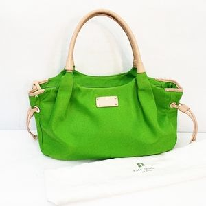 Kate Spade Medium Green Beige Bag With Dustbag